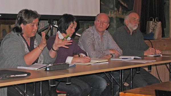Frå paneldiskusjonen under poltisk møte om fjellandbruk 29 04 2013