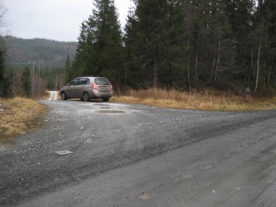 Avkjøring fra Fylkesvei 252