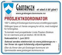 Stillingsannonse prosjektkoordinator
