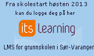 Info om pålogging til itslearning fra skolestart 2013