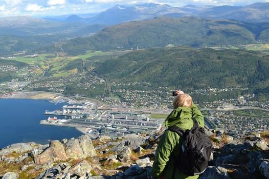 Utsikt over Mosjøen - øyfjellet