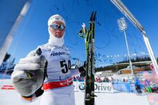 Calle Halfvarsson på verdenscupen i Lahti 2013. Foto: Laiho/NordicFocus.