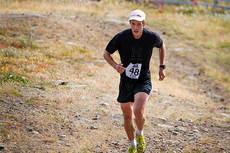 Marcus Hellner på vei mot bergspriset i Dundret Extreme Running 2013. Arrangørfoto.