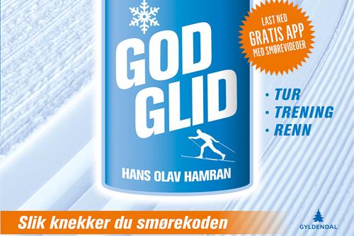 Utsnitt fra omslaget til boka God glid. Utgitt av Hans Olav Hamran og Gyldendal Litteratur.