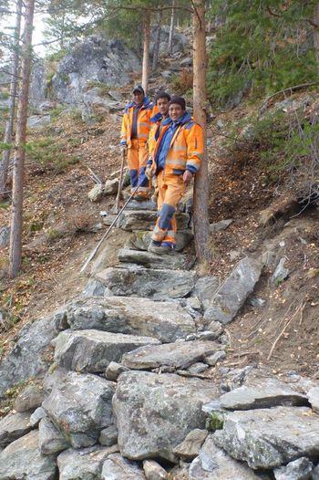 Arbeid på Smithbu-stigen