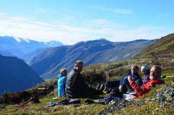 Utsikt frå Smithbue / hytta. Foto: Egil Olav Nyrnes