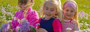 Jenter i blomstereng