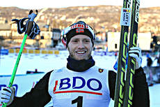 Martin Johnsrud Sundby var seierherre under åpningsdistansen på Beitosprinten 2013. Foto: Erik Borg.