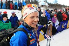 7. plass ble Marthe Kristoffersens resultat i Beitosprinten 10 km fristil 2013. Foto: Erik Borg.