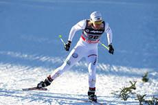 Hanna Falk under verdenscup-sprinten i Rogla 2011. Foto: Hemmersbach/NordicFocus.
