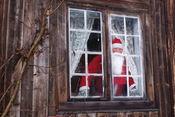 Julenissen i vinduet