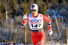 Sindre Bjørnestad Skar på 15 km klassisk i Beitosprinten 2013. Foto: Geir Nilsen/Langrenn.com.
