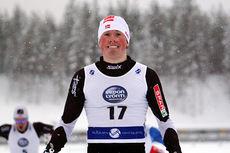 Emil Iversen fra IL Varden og Team Veidekke Trøndelag gikk til topps i sprint klassisk under Skandinavisk Cup i Vuokatti 2013. Foto: Viestintäpalvelu Heidi Lehikoinen.