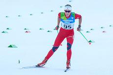Astrid Øyre Slind på vei inn til gullmedalje under Universiaden i Italia 2013. Distansen var 5 kilometer i fri teknikk. Foto: Studentidrett.no/Håvard Lauvålien.