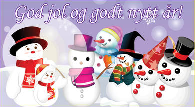 God jol og godt nyttår