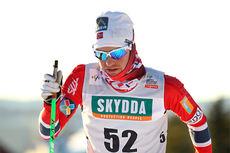 Sjur Røthe underveis i det 15 km lange rennet under verdenscupen på Lillehammer 2013. Foto: Manzoni/NordicFocus.