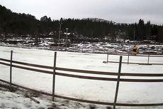 Slik ser det ut på NM-arenaen ved Skaret skisenter 2. januar klokka 13. Kilde: www.skiskaret.org.