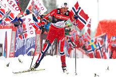Petter Northug var fjerdemann opp Alpe Cermis, og dermed også sammenlagt, på den sjuende og avsluttende etappen i Tour de Ski 2013/2014. Foto: Felgenhauer/NordicFocus.