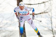 Robin Bryntesson ute i verdenscup-sprinten i Asiago i desember 2013. Foto: Felgenhauer/NordicFocus.