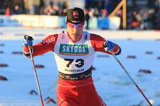 Vegard Bjerkreim Nilsen ute på sprinten i Beitosprinten 2013. Foto: Erik Borg.