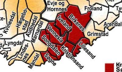 Knutepunkt Sørlandet - interkommunalt samarbeidsorgan for de sju kommunene Lillesand, Birkenes, Iveland, Vennesla, Kristiansand, Søgne og Songdalen. Kommunene utgjør et felles bo- og arbeidsmarked for mer enn 128.000 innbyggerne i regionen