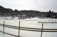 Slik så det ut på NM-arenaen ved Skaret skisenter 14. januar om ettermiddagen. Kilde: www.skiskaret.org.
