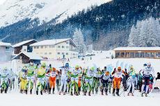 Langløpseliten i det første rennet i Swix Ski Classics 2014, La Diagonela i Sveits. Foto: Magnus Östh/Swix Ski Classics.