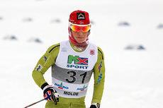 Marit Bjørgen går her inn til bronse på 10-kilometeren i klassisk stil under NM del 1 i Lillehammer 2014. Foto: Geir Nilsen/Langrenn.com.