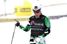 Eldar Rønning går inn til en skuffende 19.-plass i den klassiske 15-kilometeren under NM del 1 i Lillehammer 2014. Foto: Geir Nilsen/Langrenn.com.