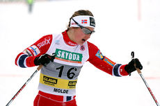 Ingvild Flugstad Østberg var raskest i sprintprologen under NM del 1 i Lillehammer 2014. Foto: Geir Nilsen/Langrenn.com.