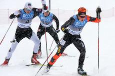 Etter å ha vunnet prologen gikk Andrew Musgrave med startnummer 1 gjennom kvart- og semifinale, og i selve finalen forsvarte han sitt startnummer gjennom å vinner norgesmesterskapet 2014 på Lillehammer. Foto: Geir Nilsen/Langrenn.com.