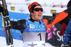 Andrew Musgrave utmanøvrerte hele norgeseliten i NM-sprinten under mesterskapet på Lillehammer 2014. Foto: Geir Nilsen/Langrenn.com.