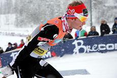 Sølv-vinner Sjur Røthe i skøytedelen av 30 km med skibytte under NM på Lillehammer 2014. Foto: Geir Nilsen/Langrenn.com.