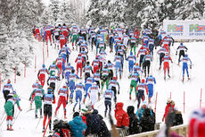 Ski-NM er et symbol på fellesskapet i norsk langrenn. Her fra NM på Lillehammer 2014. Foto: Geir Nilsen/Langrenn.com.