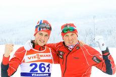 Even Northug vant sprintprologen i Bruksvallarna. Her er han sammen med Emil Iversen (t.h.) i forkant av U23-VM i Val di Fiemme 2014. Foto: Erik Borg.