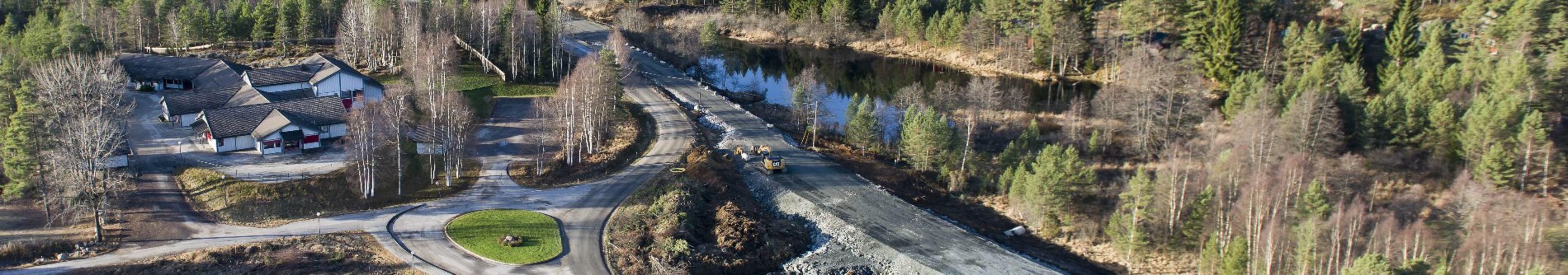 Bedre infrastruktur: Bedre veier og ny gang- og sykkesti på Skaiå bygges i 2014.