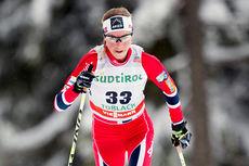 Kristin Størmer Steira underveis på den klassiske 10-kilometeren under verdenscupen i Toblach 2014. Foto: Manzoni/NordicFocus.
