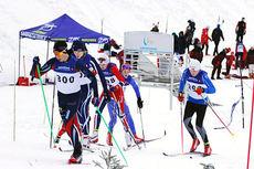 Illustrasjonsbilde fra sprinten i Vikersund, fjerde renn i Ungdomssprintcupen 2013/2014. Foto: Arrangør.