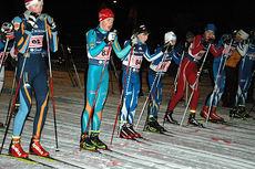 Startfeltet i Gutter 15-16 år under Rindals-Troll-stafetten 2014. Foto: Tor Jarle Bolme.