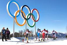 Åpningsøvelsen i OL Sotsji 2014 - Skiathlon 15 km for kvinner. Foto: NordicFocus.