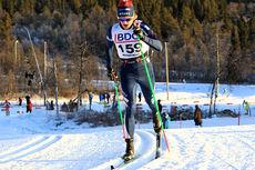 Daniel Myrmæl Helgestad ute på 15 km klassisk i Beitosprinten 2013. Foto: Erik Borg.