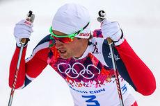 Petter Northug jr. etter sprintprologen under OL i Sotsji 2014, der han ble nummer 16. Foto: NordicFocus.