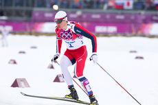 Ola Vigen Hattestad på vei mot det som til slutt endte opp med et klart OL-gull på sprinten i Sotsji 2014. Foto: NordicFocus.