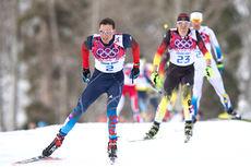 Alexander Legkov underveis på 30 km skiathlon i OL Sotsji 2014. Foto: NordicFocus.