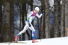 Johan Olsson på vei mot 2. plass på 15 kilometer klassisk i Sotsji-OL 2014. Foto: NordicFocus.