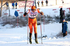 Christoffer Callesen ute i løypene i forbindelse med 15 kilometer klassisk i Beitosprinten 2013. Foto: Geir Nilsen/Langrenn.com.