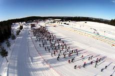 Starten for 30-kilometeren under Ingalåmi 2014. Foto: Geir Olsen/Ingalåmi/Birken.