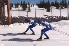 Løpere fra Team Coop Talent og Lillehammer Skiklub gir alt i sitt testrenn foran NM del 2 på Gålå med lagsprint og 30/50 kilometer. Foto: Tore Martin Søbak Gundersen/YouTube.