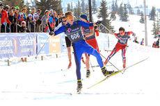 Ole Jørgen Bruvoll fra Lierne sikrer seieren i den siste konkurransen i norgescupen, på Gålå i 2014. Foto: Erik Borg.