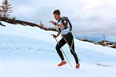 Anders Tettli Rennemo har klar kurs mot seier i Monsterbakken Vassfjellet 2014. Foto: Kjersti Solvoll Bakketun Tronvoll.